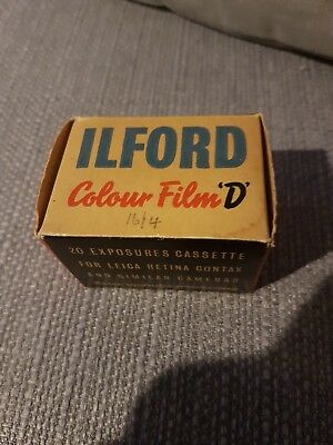 Last Ilford COLOUR 35mm film in the world expired 1952!!!