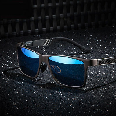 Men's Polarized Aluminium Sunglasses Outdoor Driving Sun Glasses Sport Eyewear