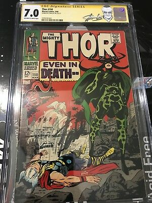 Thor #150 (Mar 1968, Marvel) CGC Signed By Stan Lee 7.0 Stan Lee Label