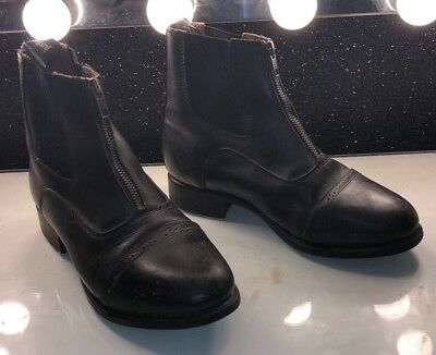 JUSTTOGS Black Riding Ankle Boots, leather, size 6, amazing condition