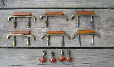 10 Antique Art Deco Butterscotch Bakelite Drawer Pulls Knobs