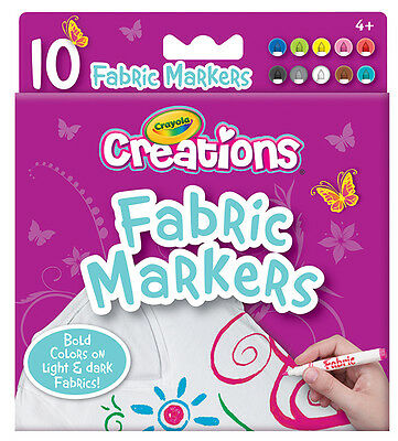 Crayola Creations - Fineline Fabric Markers - 10 pack