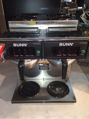 BUNN CWTF 4/2 TWIN Coffee Brewer, 6 Warmers for 12 cup pots