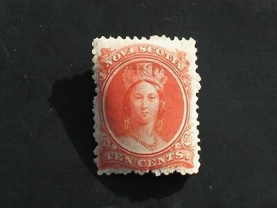 NOVA SCOTIA 1860-1863 Stamp 10 c Hinged