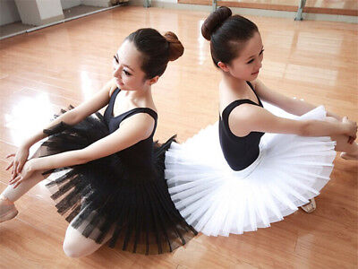 Ballet Leotard Tutu Skirt Girls Kids Princess Dress Swan Dance Wear Costumes