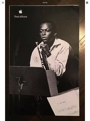 Miles Davis Apple Think Different Educational 11x17 Poster