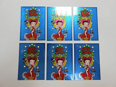 1996 Betty Boop Chromium PROMO card lot of 6! Krome Productions! NM/MN! RARE!
