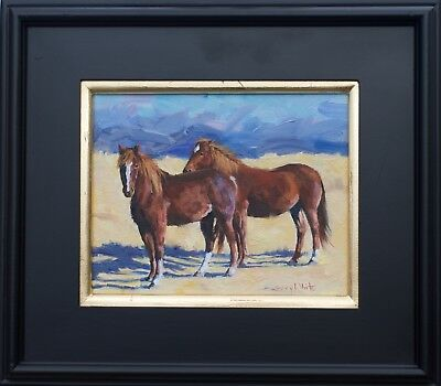 Horse, southwest, mustang, new oil painting, 8x10 original by Gary White