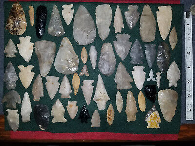 Mixed Arrowhead Lot, Texas And Others.