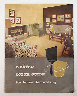 1950s 1960s O'Brien Paints Color Guide brochure collection manual