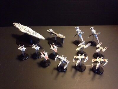 Star Wars Starship Battles Lot of 13 Ships Light Side with Pedestals FREE SHIP!