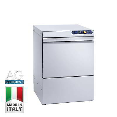 Italian Made Commercial Under Bench Dishwasher - Stainless Steel - Dual Cycle