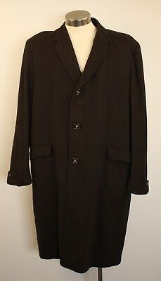 "X Large Wool Check, Original Vintage Long Mens Coat. ""apollo"""