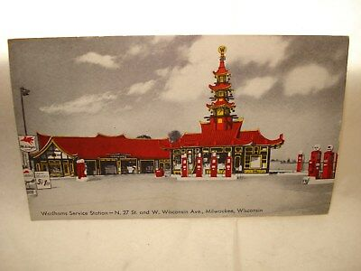 Postcard Wadhams Service Milwaukee Wisconsin