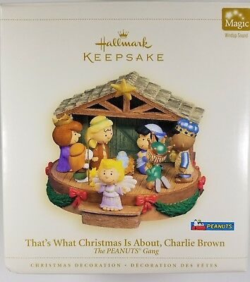 """Hallmark Decoration - Peanuts - """"That's What Christmas is About, Charlie Brown"""""""