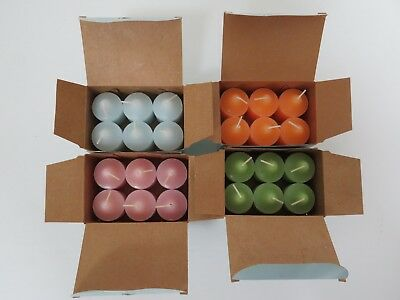 4 Boxes New Partylite Votives, Nectarine,spring Water, Lime & Cilantro, Moments