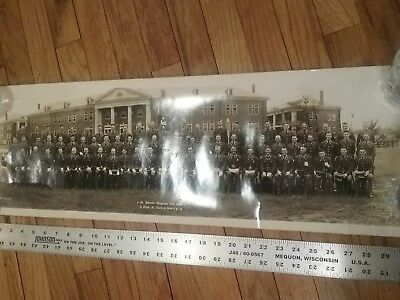 Military Panoramic Photo Post WWI Pre WWII Fifth Engineer Regiment 1936