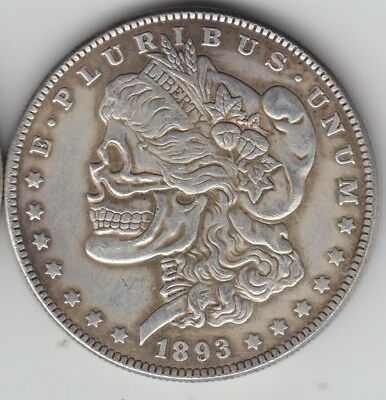 1893 CC Hobo Coin with Morgan Silver Dollar on Back *Novelty Coin*