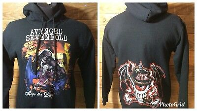 Avenged Sevenfold Hoodie Seize The Day 2008 Adult Small
