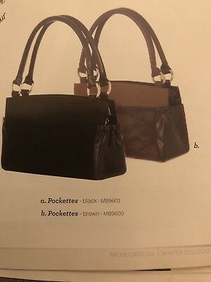 Authentic Miche Pockettes for Classic Bags~Brown~NWT