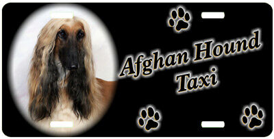 Afghan Hound 2 Taxi Line License Plate  (( SPECIAL LOW CLEARANCE PRICE ))