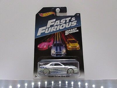 Nissan Skyline GT-R Hot Wheels 1:64 Scale Diecast Car *UNOPEND, FAST & FURIOUS*