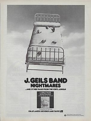 J. Geils Band Nightmares Vintage Ad 1974