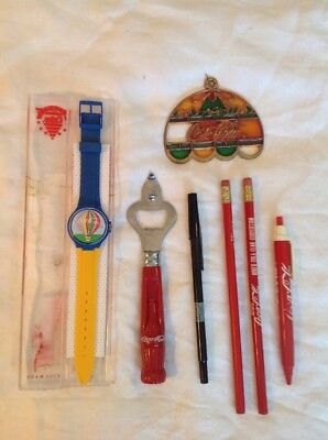 Swiss Made Coca-Cola Advertising Watch And Other Advertising Items