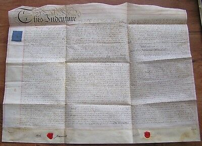 1816 Indenture Document On Vellum Post Colonial Federal Period In History