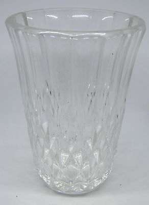 "Rms Queen Mary Crystal Art Deco Era 6"" Vase Signed By Val St. Lambert Cunard"