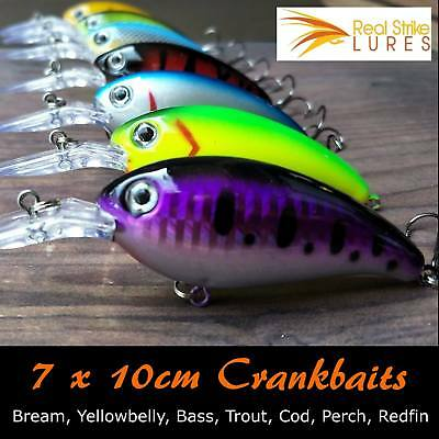 7 x lures Bream Flathead Bass Fishing Lure Yellowbelly Trout Barra
