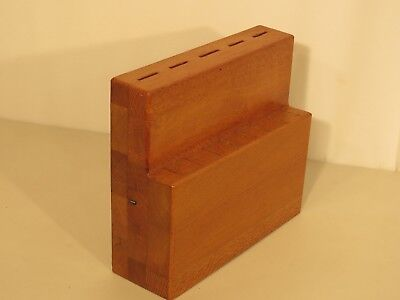 Antique Silky Oak Knife Rack
