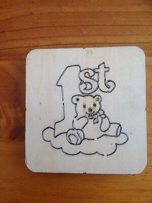 Wooden Die Cutter  - Baby's 1St Birthday Teddy  - Gently Used