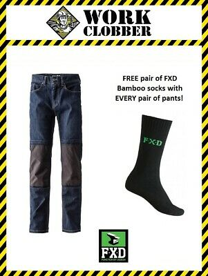 FXD Denim Work Jeans WD-1 FREE FXD Bamboo Socks NEW WITH TAGS!
