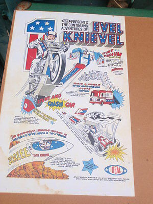 """""""Evel Knievel"""" motorcycle Daredevil, Advertisment  16 x 25"""