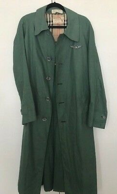 VINTAGE 1970's Valentino Trench Coat Pleated Full Length Olive Green Rain Coat