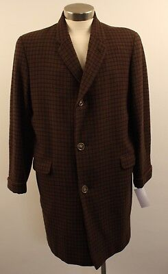 Medium, Original Vintage Mens 3/4 Long Coat