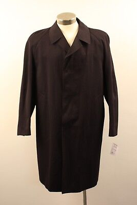 Large, Original Vintage, Dark Blue,mens  Long Trench Coat,