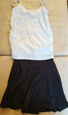 Maternity clothes Skirt and singlet top Size Small 8