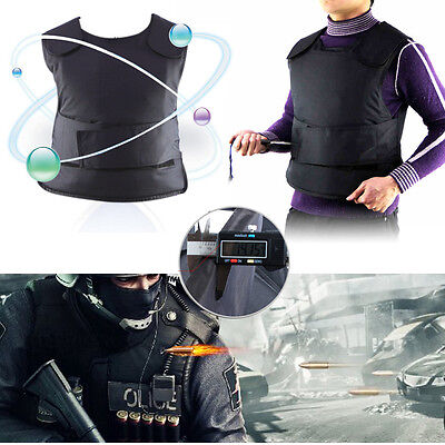 Black Stab Proof Anti-stab Body Tactical Armour Vest Security Safe Guard Jacket