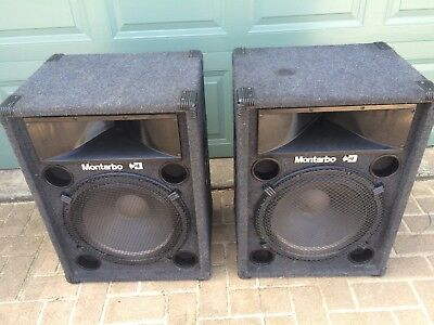 2 X Large Montarbo 2 Way Speaker System Speakers 150Wt Made In Italy