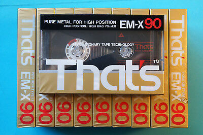 10x THAT's EM-X 90 Cassette Tapes 1987-89 + OVP + SEALED + METAL PARTICLE +