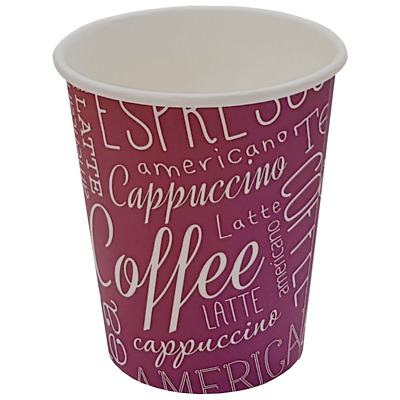 1000 8 oz Rosa Paper Coffee Cups with free delivery
