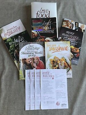 slimming world 2018 starter pack (used) with an extra recipe book