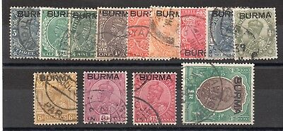 Burma Gv1 1937 Fine Used Lot