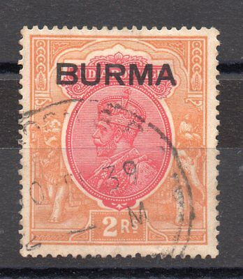 Burma Gv1 1937 Sg 14 Wmk Up Fine Used 2R
