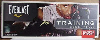 Andre Ward Boxing Everlast Used 18X48 Display Sign On Foam Board