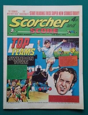 Scorcher and Score comic. 13 May 1972. Swindon Town Bobby Charlton Man United