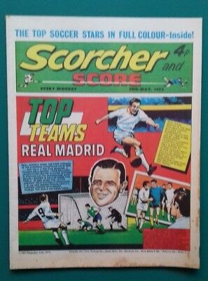 Scorcher and Score comic. 20 May 1972. Real Madrid Eddie Gray Pele