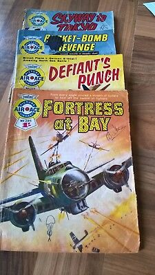 Air Ace picture library Comics. 4 in total. Good condition for age